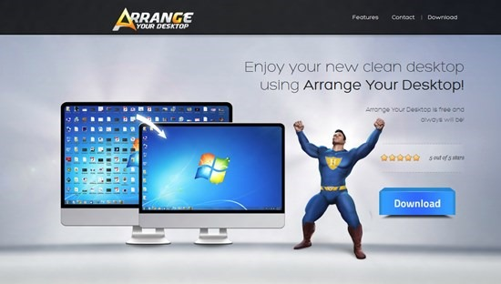 Clean and Organize your windows Desktop with Arrange Your Desktop