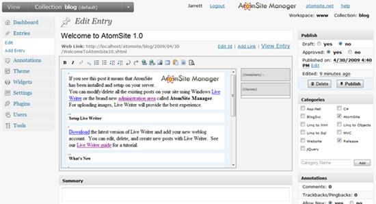 AtomSite-editor