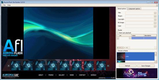 Aurora-Flash-Site-Builder