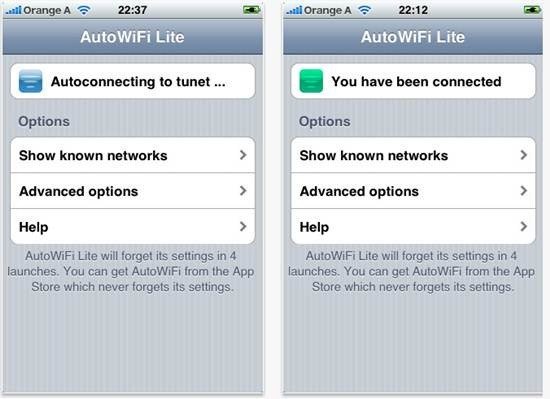 AutoWiFi Lite for iPhone 5 best wifi apps for iPhone
