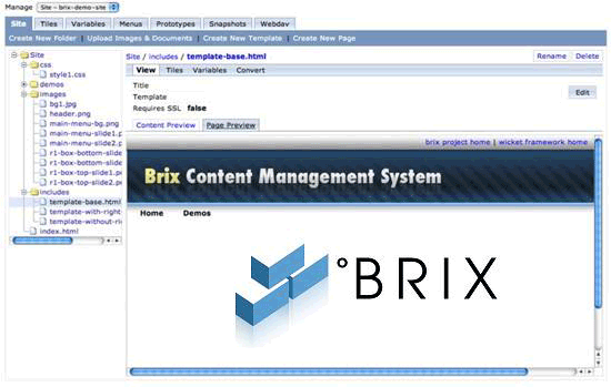 brix CMS - Apache Wicket-based CMS framework