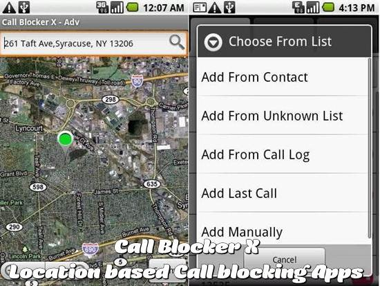Call Blocker X - Location based Call blocking android app