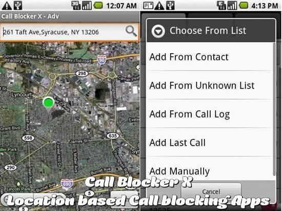 Call Blocker X - Location based Call blocking android app