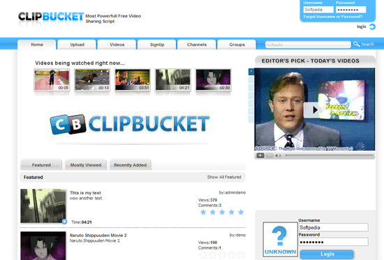 ClipBucket - Open source video sharing script