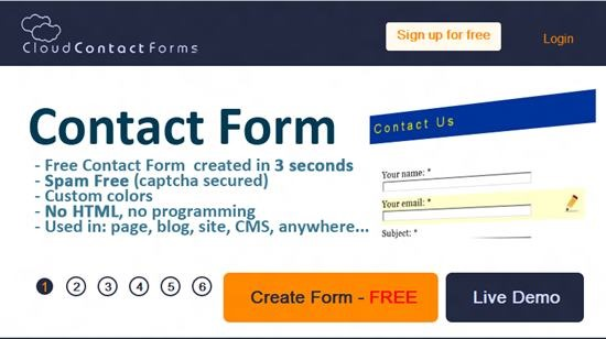 Cloud Contact Forms Top 13 online Form Building Apps