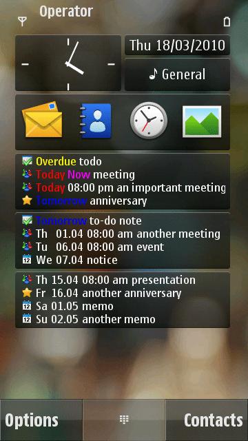 ComingNext calendar homescreen widget