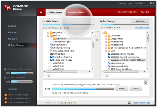 Comodo Backup Free Backup software for Windows, Mac, and Linux - Best Of