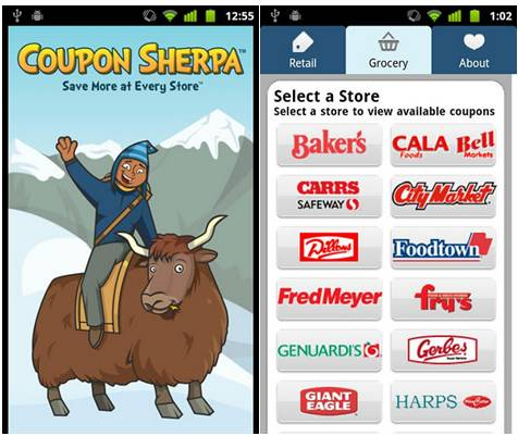 Coupon Sherpa 18 free Mobile Shopping Apps for smartphone
