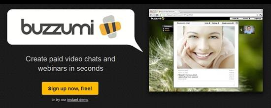 Create free video chat or webinars with Buzzumi