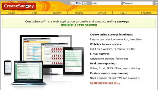 CreateSurvey Survey software : Top 15 online survey software and questionnaire