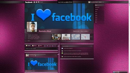 Dark Shiny Pink Static, transparency facebook timeline theme