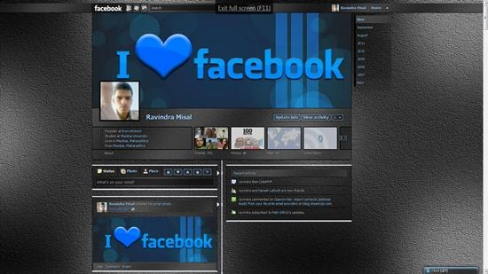 Dark Static, transparency Facebook Timeline profile themes