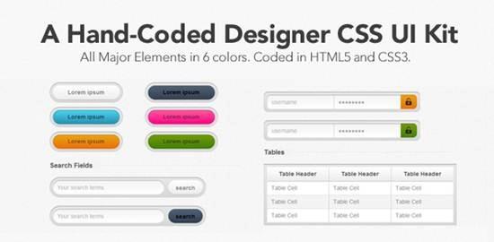 Designer CSS UI Kit Top 12 Free CSS UI Toolkits