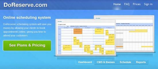 DoReserve scheduling Top 16 online appointment scheduling software