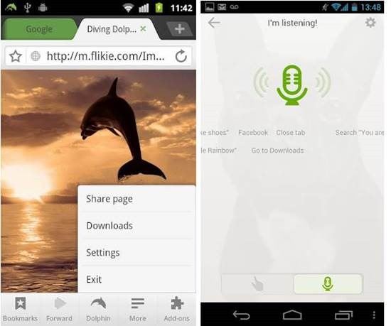 Dolphin Browser HD – Android Mobile browser with multi touch