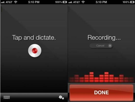Dragon Dictation iphone dictation apps