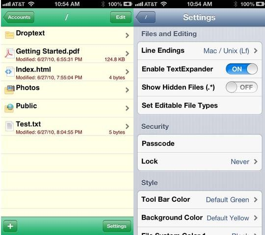 Droptext iOS text editor for dropbox