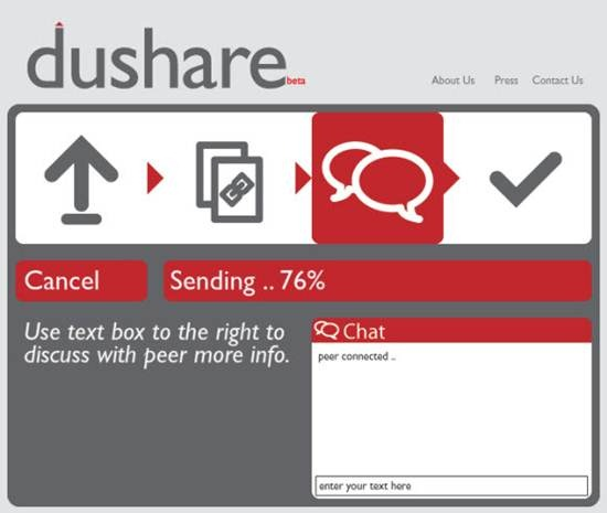 dushare - Real-time P2P file transfer tool