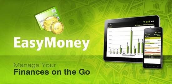 EasyMoney 12 useful Personal Finance manager for Android