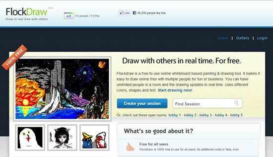 Flockdraw free online collaborative whiteboard - Best Of