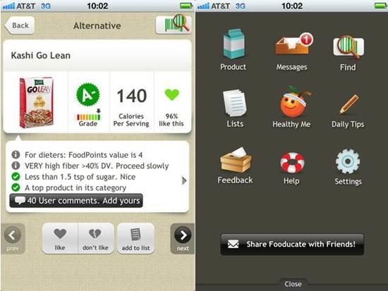Fooducate Top 6 Health Related iPhone Apps
