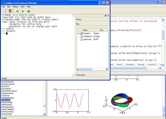 FreeMat scientific prototyping and data processing tool
