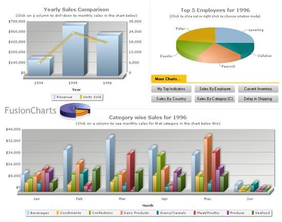 FusionCharts v3 – Create Interactive Charts in Flash