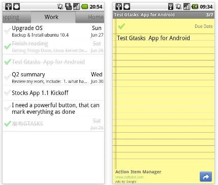 Gtasks4Android 21 useful Android Productivity Apps