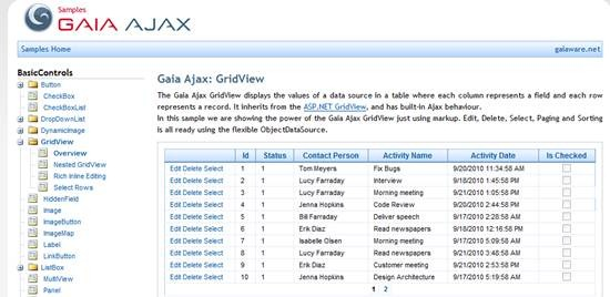 Gaia Ajax toolkit