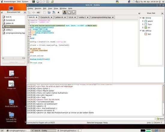 Gobby collaborative text editor