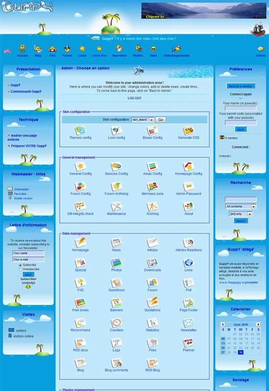 GuppY – A Databaseless Lite CMS/web portal