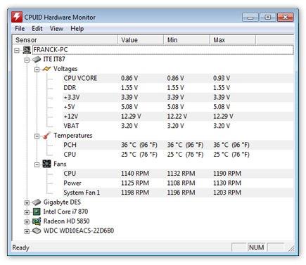 HWMonitor - hardware monitoring program