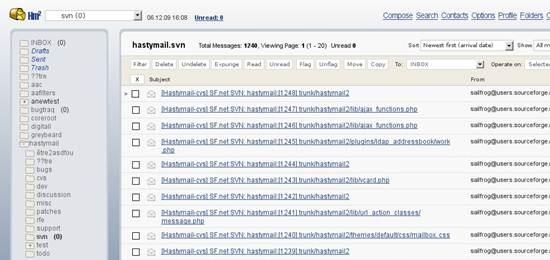 Hastymail2 6 useful Ajax and PHP based Webmail Client