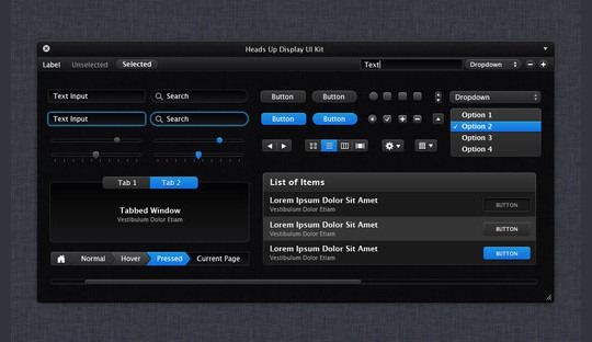 Heads Up Display UI Kit