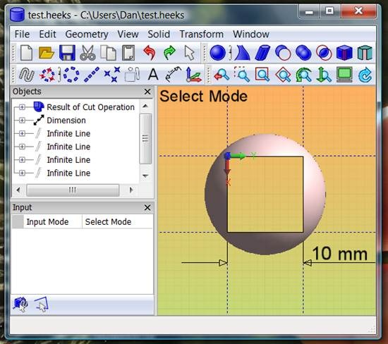 HeeksCAD -  Free CAD based on Open CASCADE