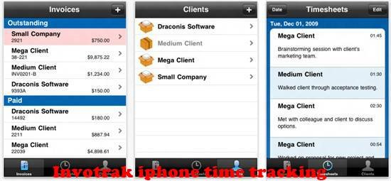 Invotrak 8 best iPhone Apps for Tracking Time on Projects