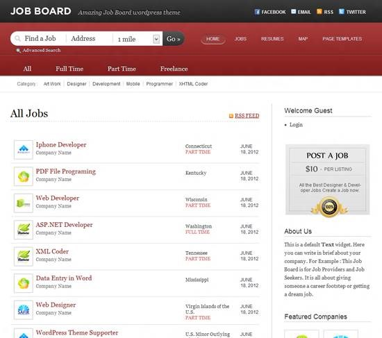 Job Board by Templatic job board theme for WordPress