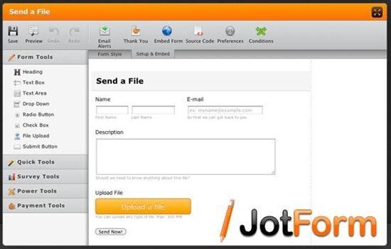 JotForm Top 13 online Form Building Apps