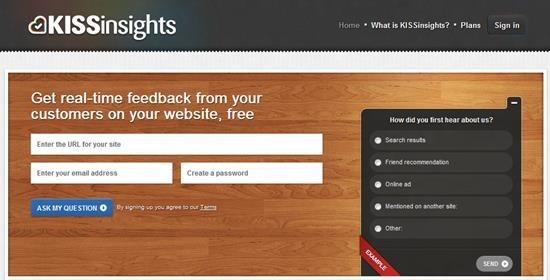 KISSinsights Survey software : Top 15 online survey software and questionnaire