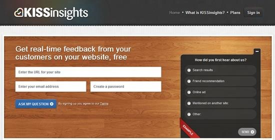 KISSinsights Survey software : Top 15 online survey software and questionnaire