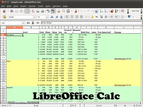 LibreOffice Calc 8 free Microsoft excel alternative software