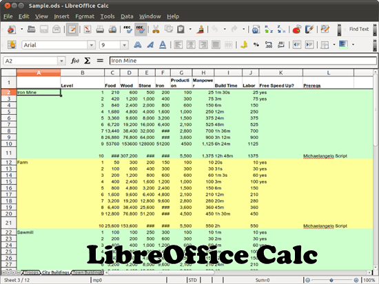 LibreOffice Calc 8 free Microsoft excel alternative software