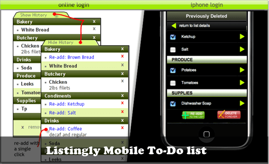 Listingly mobile to-do list : 20 most useful Mobile To-Do List manager for iPhone