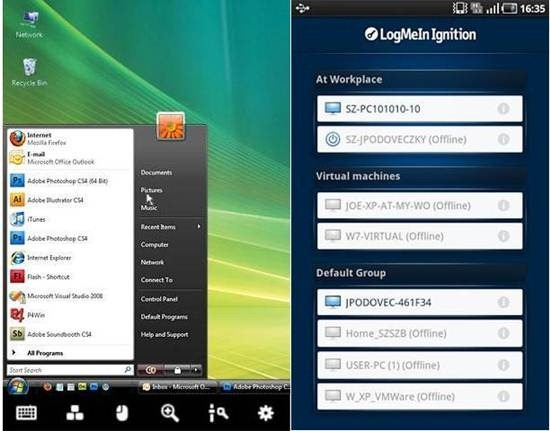 LogMeIn Ignition - 5 Great Remote Desktop Access Apps for Android
