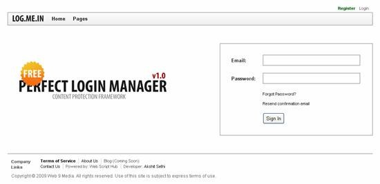 LOG.ME.IN - free PHP user management script
