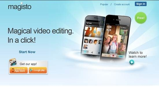Magisto online video editing software