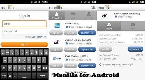 Manilla for Android 12 useful Personal Finance manager for Android