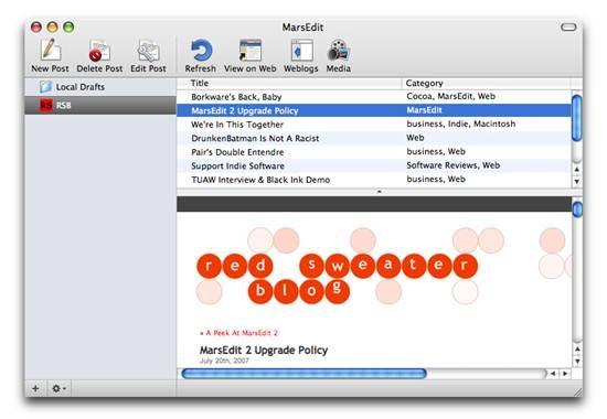 MarsEdit - Blog Publishing tool For Mac