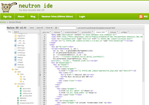 NeptunIDE Cloud Based IDE