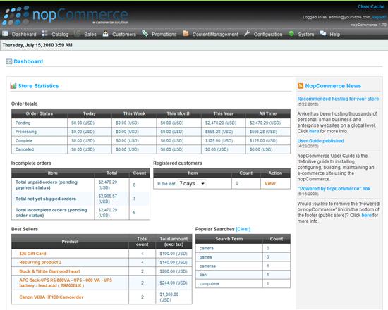 nopCommerce - Open Source ASP.NET Shopping Cart
